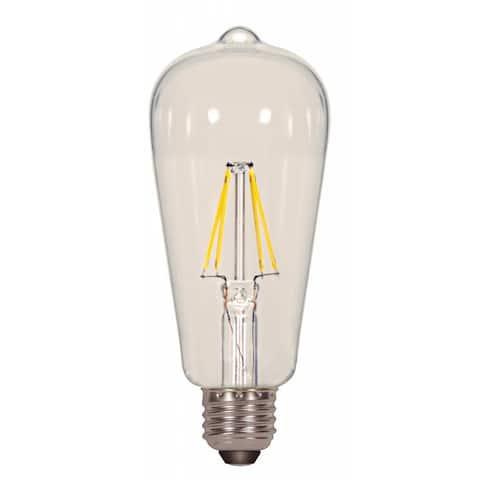 Satco 6.5W ST19 Filalment LED - Clear - Medium Base - 2700K - 120V