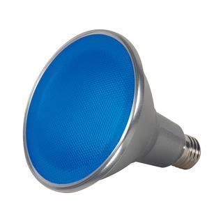 Satco 15W PAR38 LED - 40' Beam Spread - Medium Base - 120V - Blue
