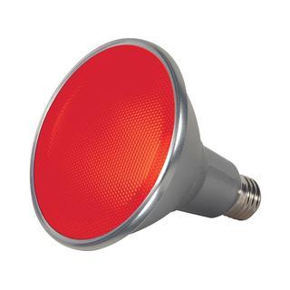 Satco 15W PAR38 LED - 40' Beam Spread - Medium Base - 120V - Red
