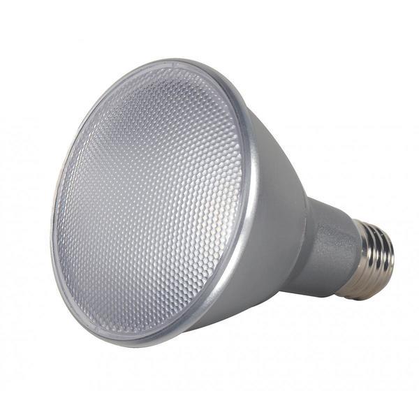 Satco 13W PAR30 Long Neck LED - 40' Beam Spread - Medium Base - 3500K - 120V - Dimmable - IP65