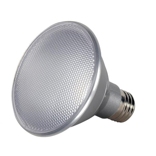 Satco 13W PAR30 Short Neck LED - 25' Beam Spread - Medium Base - 3500K - 120V - Dimmable - IP65
