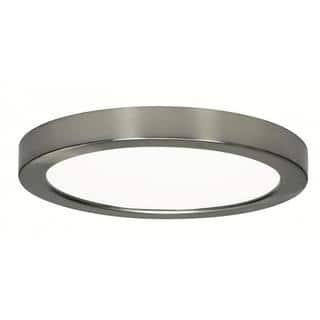 "Satco 18.5W 9"" Flush Mount LED Fixture - Round Shape - 3000K - Brushed Nickel Finish - 120V|https://ak1.ostkcdn.com/images/products/17850046/P24039315.jpg?impolicy=medium"
