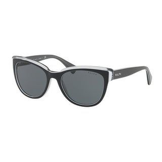 Ralph Women's RA5230 164687 53 Black Grey Plastic Cat Eye Sunglasses