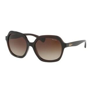 Ralph Women's RA5229 164213 57 Chestnut Plastic Square Sunglasses - Grey