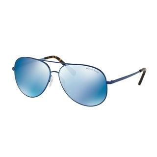 Michael Kors Unisex MK5016 117355 60 Navy Mirror Metal Aviator Sunglasses - Blue