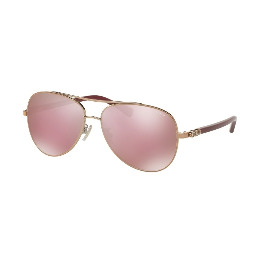 Coach Women's HC7072B 93041T 59 Pink Solid Mirror Plastic...