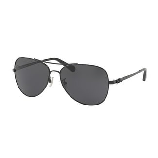 a3819a6be1 Shop Coach Women s HC7074 900387 59 Dark Grey Solid Metal Aviator Sunglasses  - Free Shipping Today - Overstock.com - 17850462