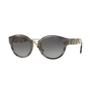 a54f0f52956b Shop Burberry Women's BE4227 3670T3 50 Striped Grey Phantos Plastic Oval  Sunglasses - Free Shipping Today - Overstock.com - 17850484