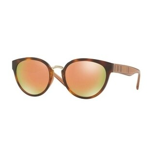 Burberry Women's BE4249 33164Z 53 Havana Plastic Cat Eye Sunglasses - Gold