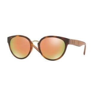 13db380bae9 Burberry Women s BE4249 33164Z 53 Havana Plastic Cat Eye Sunglasses - Gold