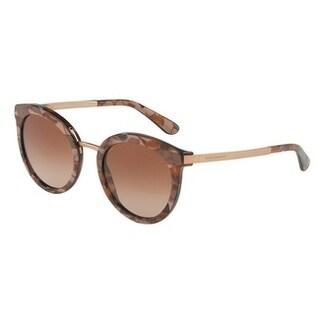 Dolce & Gabbana Women's DG4268 313113 52 Brown Gradient Metal Round Sunglasses