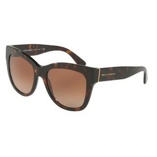 Dolce & Gabbana Women's DG4270 502/13 55 Brown Gradient Plastic Square Sunglasses
