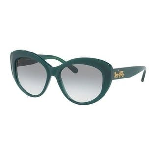 2c37ab67319c Coach Women s HC8206 54568E 55 Green Gradient Plastic Cat Eye Sunglasses