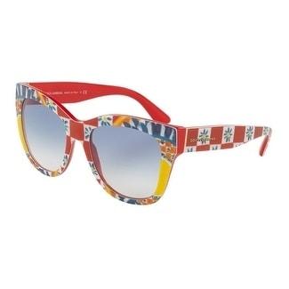 6db9391c568 Shop Dolce   Gabbana Women s DG4270 312819 55 Blue Gradient Plastic Square  Sunglasses - Free Shipping Today - Overstock.com - 17850527