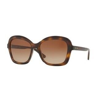 Donna Karan New York Women's DY4147 370213 56 Dark Brown Gradient Plastic Rectangle Sunglasses