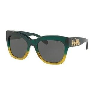 Coach Women's HC8213 548387 56 Dark Grey Solid Plastic Square Sunglasses