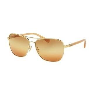 6cb59e3dbe Shop Coach Women s HC7073B 9305W8 59 Brown Orange Triple Gradient Plastic  Aviator Sunglasses - Free Shipping Today - Overstock - 17850534