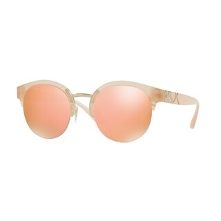 Burberry Women's BE4241 36427J 52 Matte Pink/Gold Plastic Round Sunglasses - Rose