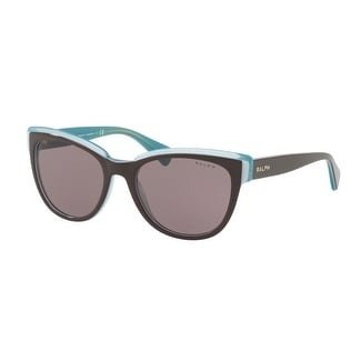 bab1c77fcb Shop Ralph Women s RA5230 16477N 53 Brown Blue Plastic Cat Eye Sunglasses -  Free Shipping Today - Overstock.com - 17850542