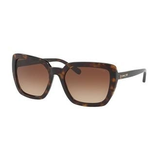 Coach Women's HC8217F 512013 57 Brown Gradient Plastic Square Sunglasses