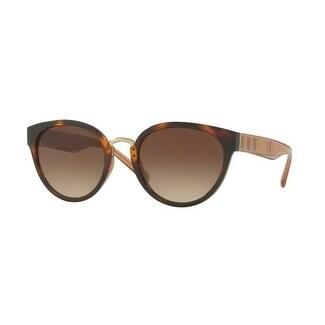 09933899f73c Shop Burberry Women s BE4249 331613 53 Havana Plastic Cat Eye Sunglasses -  Brown - Free Shipping Today - Overstock - 17850576