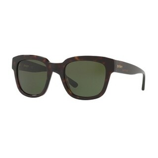 Donna Karan New York Women's DY4145 370271 52 Green Solid Plastic Rectangle Sunglasses