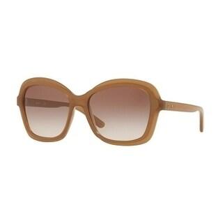 Donna Karan New York Women's DY4147 372713 56 Brown Blush Gradient Plastic Rectangle Sunglasses