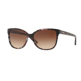 Donna Karan New York Women's DY4129 374313 57 Brown Gradient Plastic Square Sunglasses