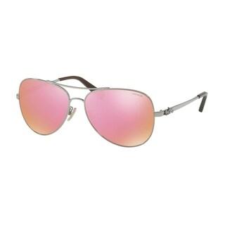 Coach Women's HC7074 90041T 59 Pink Mirror Metal Aviator Sunglasses