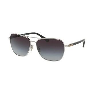 ceb6e1ac13 Shop Coach Women s HC7073B 901511 59 Grey Gradient Plastic Aviator  Sunglasses - Free Shipping Today - Overstock - 17850597