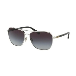 Coach Women's HC7073B 901511 59 Grey Gradient Plastic Aviator Sunglasses