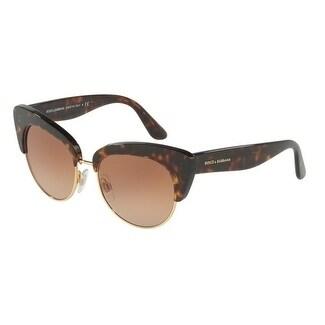 c66ab5ffe4d9 Shop Dolce   Gabbana Women s DG4277 502 13 52 Brown Gradient Plastic ...