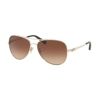 Coach Women's HC7074 931013 59 Brown Gradient Metal Aviator Sunglasses