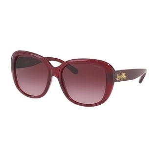 a598b0649071a Shop Coach Women s HC8207 54508H 57 Burgundy Gradient Plastic Square  Sunglasses - Purple - Free Shipping Today - Overstock - 17850630