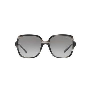 Michael Kors Women's MK2053 328911 56 Grey Gradient Metal Square Sunglasses
