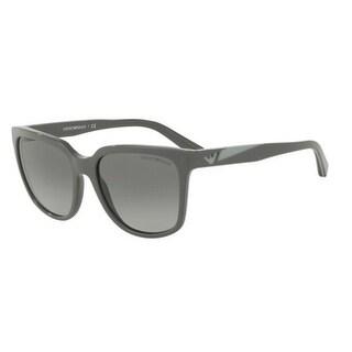 Emporio Armani Women's EA4070 551011 55 Grey Gradient Plastic Square Sunglasses
