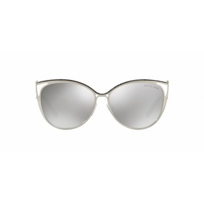 068b0f77c09f6 Shop Michael Kors Women s MK1020 11666G 56 Silver Mirror Metal Cat Eye  Sunglasses - Free Shipping Today - Overstock - 17850649