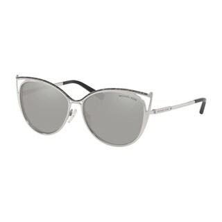 Michael Kors Women's MK1020 11666G 56 Silver Mirror Metal Cat Eye Sunglasses