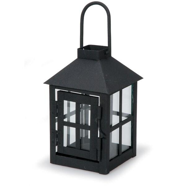 Black Metal Lantern 1/Pkg
