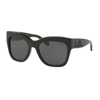 8e287ae76a Shop Coach Women s HC8213 500287 56 Dark Grey Solid Plastic Square  Sunglasses - Free Shipping Today - Overstock - 17850675