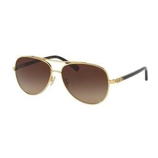 2f3a41a61b75 Shop Coach Women s HC7072B 930313 59 Dark Brown Gradient Plastic Aviator  Sunglasses - Free Shipping Today - Overstock - 17850677