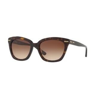 Donna Karan New York Women's DY4142 370213 53 Dark Brown Gradient Plastic Square Sunglasses