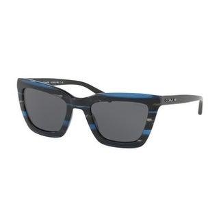 Coach Women's HC8203 547787 54 Dark Grey Solid Plastic Square Sunglasses