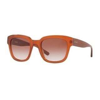 Donna Karan New York Women's DY4145 372613 52 Gold Gradient Plastic Rectangle Sunglasses