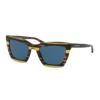 Coach Women's HC8203 544180 54 Blue Solid Plastic Square Sunglasses