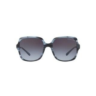 Michael Kors Women's MK2053 329011 56 Grey Gradient Metal Square Sunglasses