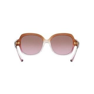 Michael Kors Women's MK2055 328614 56 Brown Rose Gradient Plastic Square Sunglasses
