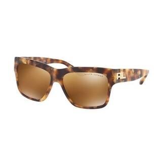 2adbde55f5 Ralph Lauren Women s RL8154 56156H 56 Brown Mirror Gold Metal Square  Sunglasses