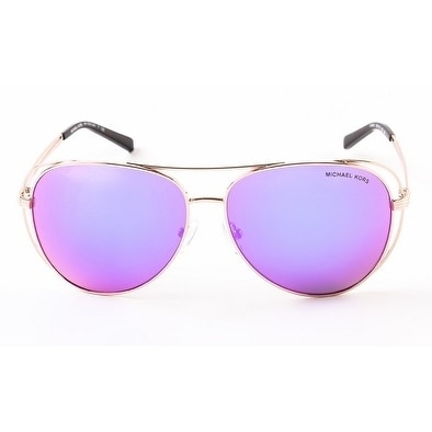 6d0bcfc9aea Shop Michael Kors Women's MK1024 11944X 58 Fuchsia Mirror Metal Aviator  Sunglasses - Pink - Free Shipping Today - Overstock - 17850839