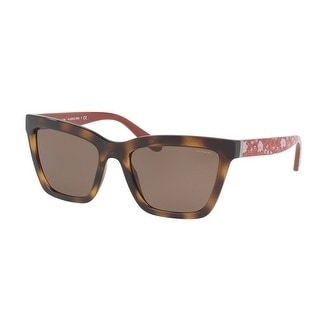 80d03fcb5073d Shop Coach Women s HC8208 545973 55 Brown Solid Plastic Square Sunglasses -  Free Shipping Today - Overstock - 17850845